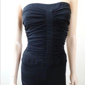 Bebe Black Strapless Jumpsuit